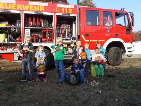 Kindergeburtstag bei der Feuerwehr!